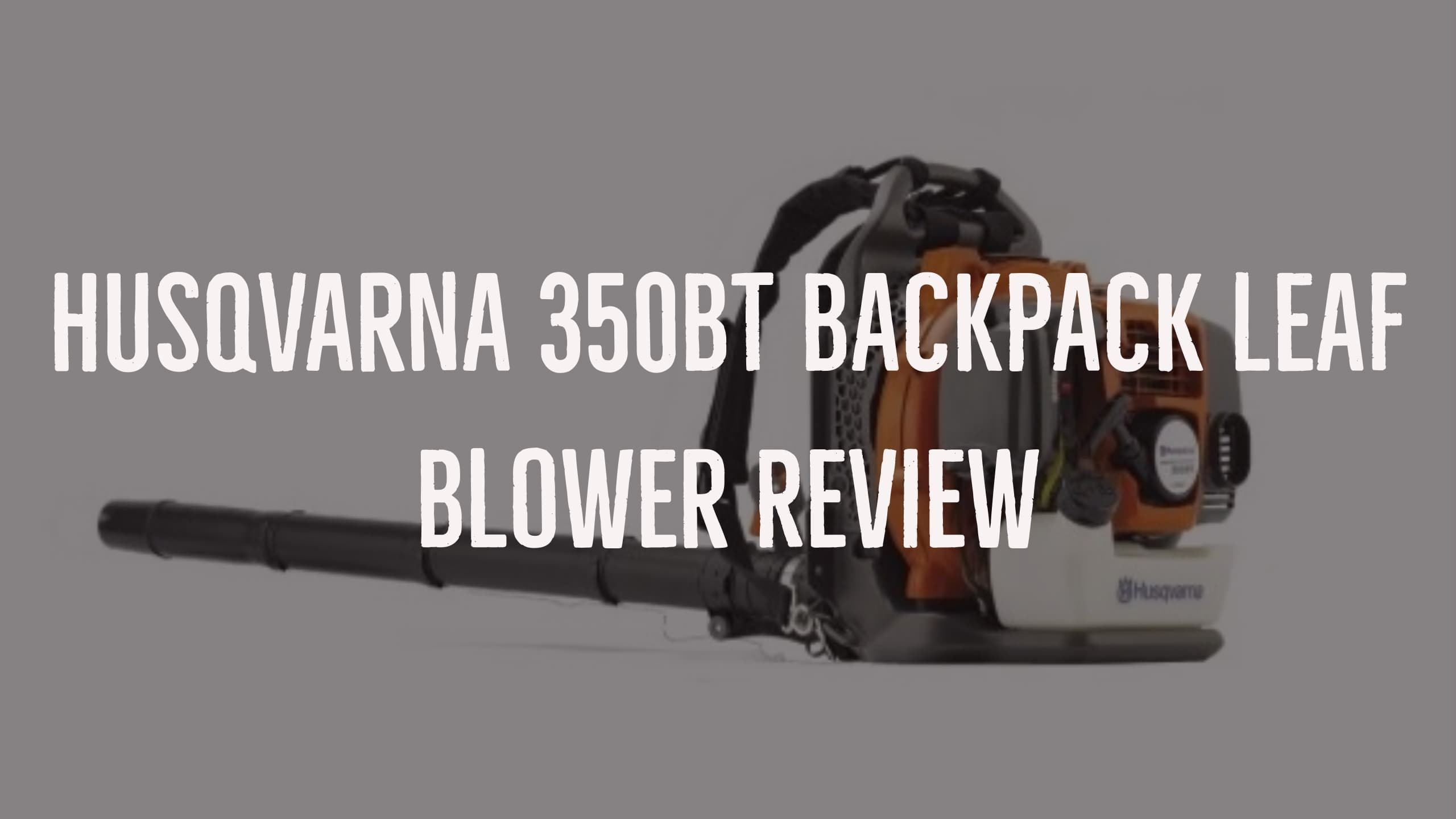 Husqvarna 350BT Backpack Leaf Blower Review, Pros & Cons