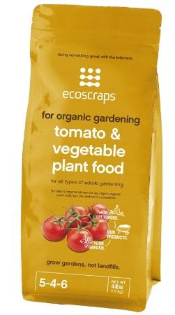 EcoScraps for Organic Gardening Tomato & Vegetable Plant Food
