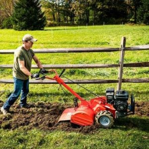 how to use rear tine tiller