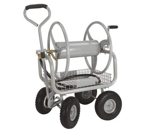 review of hose reel cart with wheels