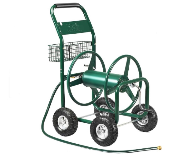 best hose reel cart with wheels review